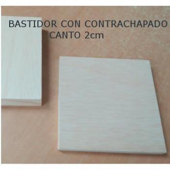 BASTIDOR FINO CON CONTRACHAPADO