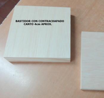 BASTIDOR ANCHO CON CONTRACHAPADO (CUADRADO)