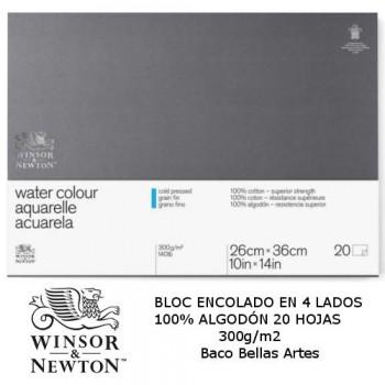 BLOC ACUA. 20H 300g/m2  W&N 100% Alg.