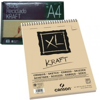 BLOC DIBUJO PAPEL KRAFT MARRÓN