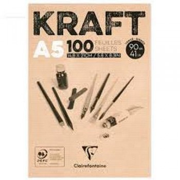 Bloc encl Kraft brun 100h 90g