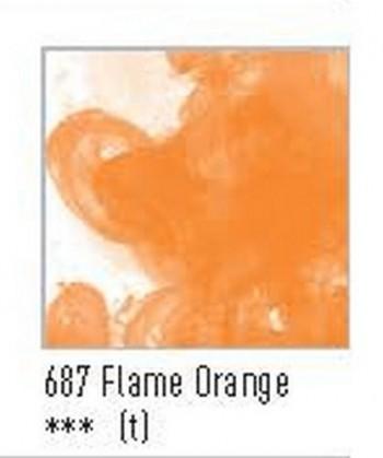 N.687 FW TINTA ACRÍLICA FLAME ORANGE