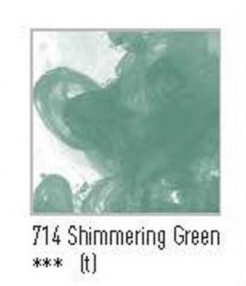 N.714 FW TINTA ACRÍLICA SHIMMERING GREEN