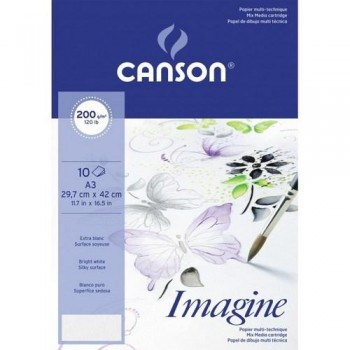 PACK 10H A3 Canson Imagine Fino 200g T. MIXTAS