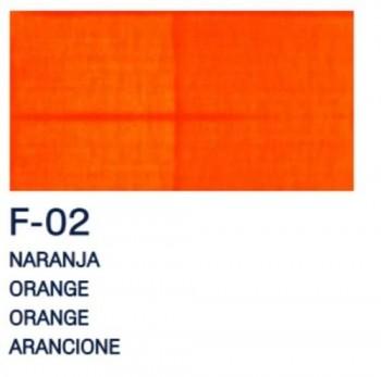 PAJARITA ACRI. FLUOR. F-02 NARANJA