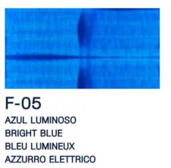 PAJARITA ACRI. FLUOR. F-05 AZUL LUMINOSO