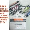 PACK 10 PROMARKER + BRISTOL A4