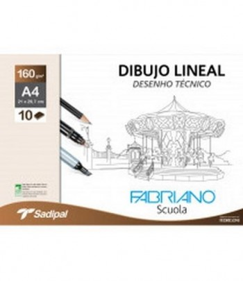 PACK 10H 160g DIBUJO LINEAL FABRIANO