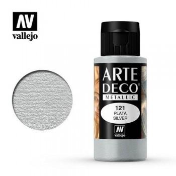 N.121 VALLEJO ARTE DECO- Plata 60ml METÁLICO