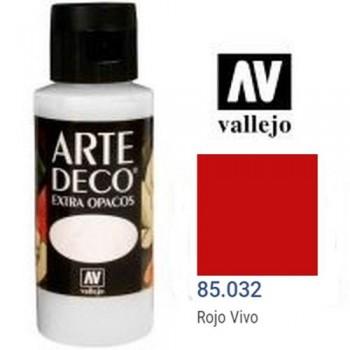 N.032 VALLEJO ARTE DECO- Rojo Vivo 60ml OPACO