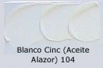 N.104 OLEO REMBRANDT BLANCO DE CINC
