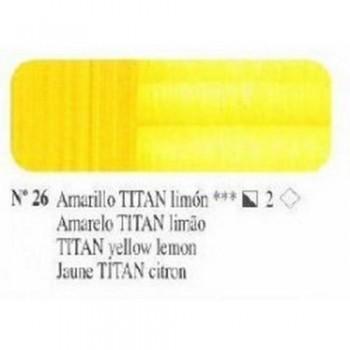 N026 AMARILLO TITAN LIMON ÓLEO TITÁN EXTRA FINO