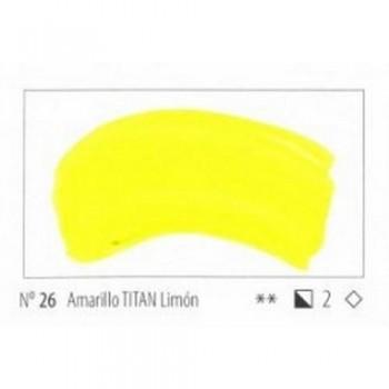 N.26 AMARILLO TITAN LIMON ACRILICO EXTRA FINO