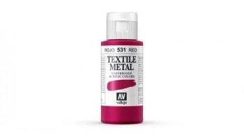 N.531 VALLEJO TEXTIL- Rojo - Metallic Color