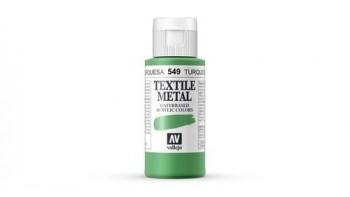 N.549 VALLEJO TEXTIL- Turquesa - Metallic Color