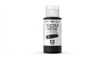 N.550 VALLEJO TEXTIL- Negro - Metallic Color